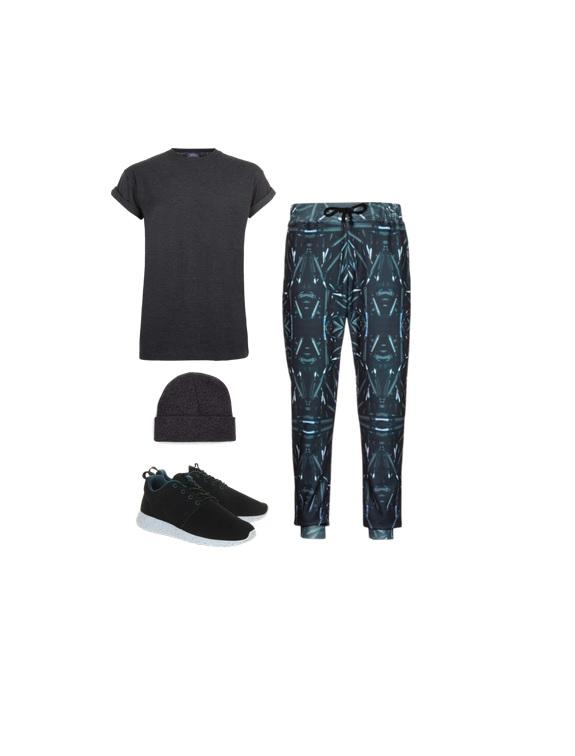 t-shirt, beanie & joggers-  TopMan   Nike Roshe Run-  Zappos