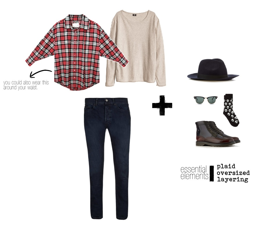 Sweater-  H&M   Jeans, Hat, Socks, & Boots-  Topman    Sunglasses-  RayBan