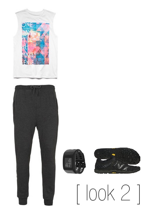 Tank-  21Men   Sweats-  Topman   Watch -  Nike   Cross-Trainers -  New Balance