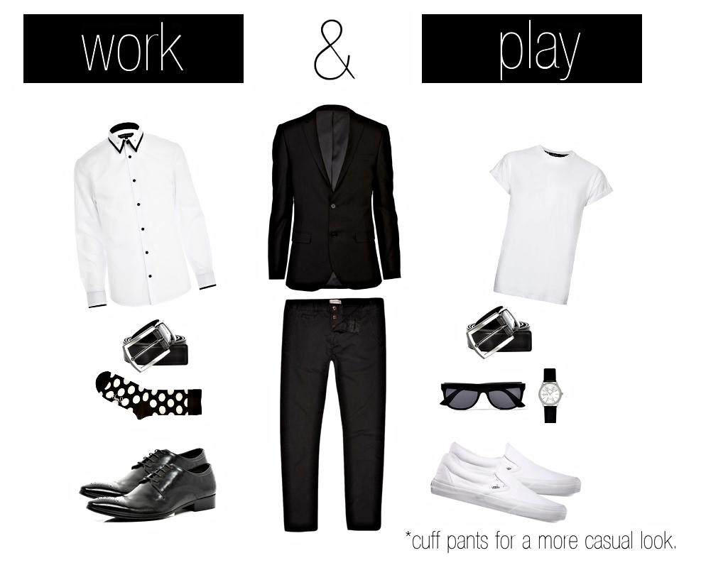 Blazer, Chinos, Dress Shirt, Accessories - River Island //Slip-on Shoes- Vans //Socks- Happy Socks