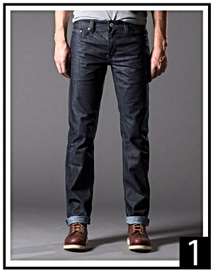 DSTLD Men's Slim Raw in Midnight Tonal