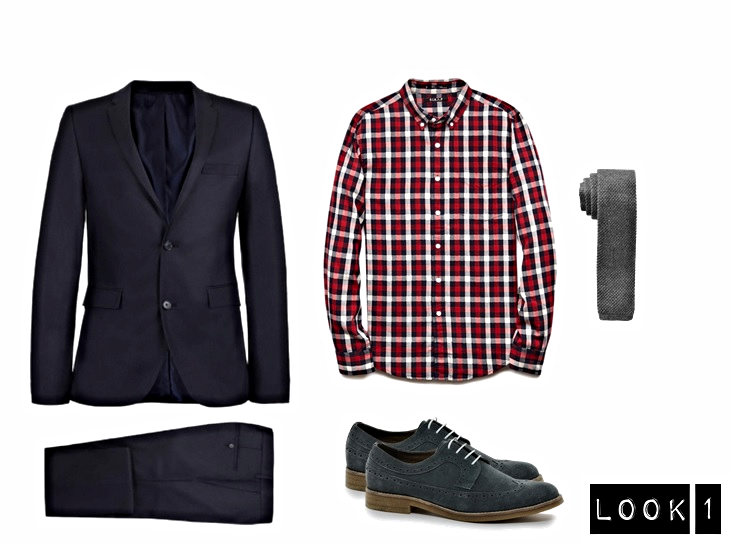 Suit-  Topman   Shirt-  21MEN   Shoes- Anthony & Stanley // Sold on  ASOS   Knit Tie -  Gap
