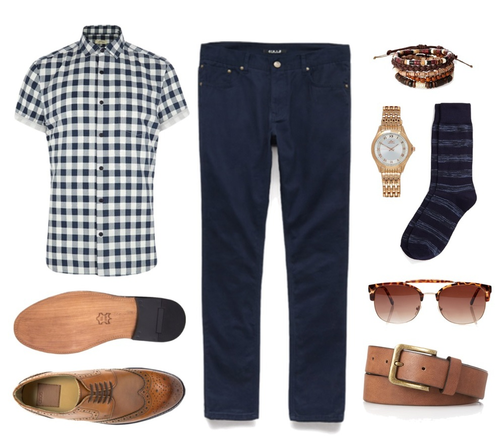 Shirt, watch and bracelets - River Island Jeans, socks, glasses, belt - Forever 21 Shoes- ASOS