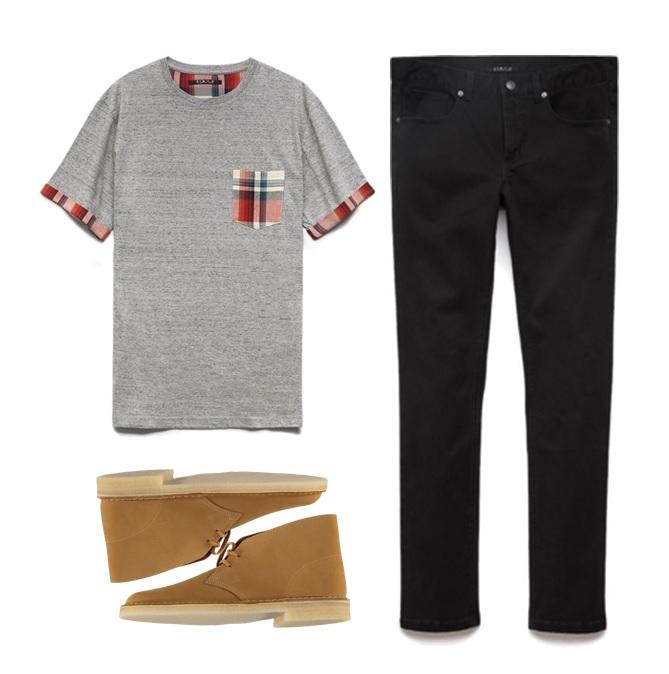 Shirt & Jeans - Forever 21 Desert Boots - Clarks