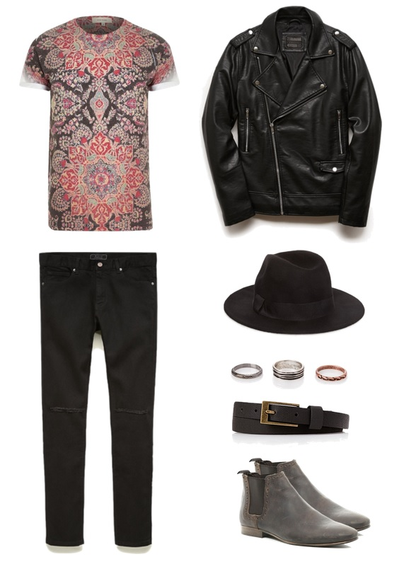 Shirt & Boots -  River Island   Jeans & Accessories - 21 Men