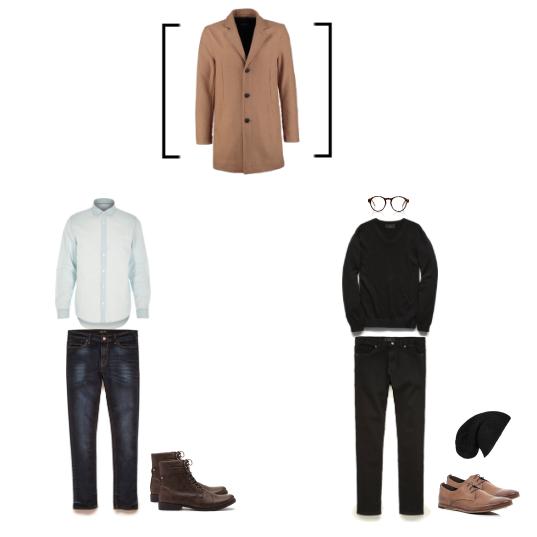 Outfit #1 - Shirt-River IslandJeans & Boots-21Men Outfit #2 - Shirt, Pants, Accessories - Shoes-River Island Coat - Topman