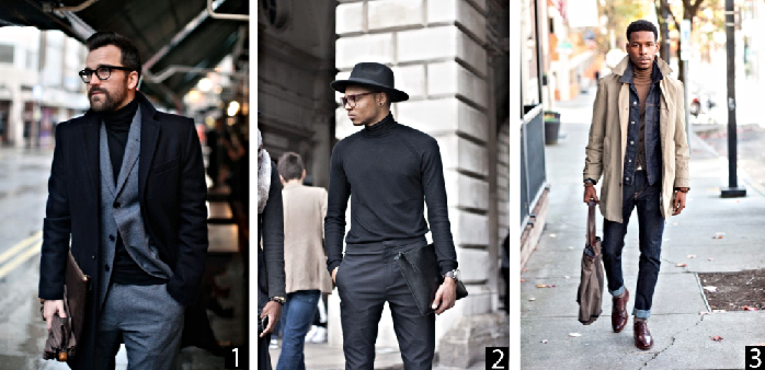 1. Dan Rockwood of the Sartorial 7  2. Unknown fashionable individual at London Fashion Week  3.  Another unknown fashionable individual
