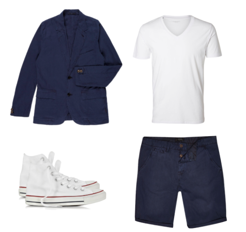 Blazer- Paul Smith  Shorts - River Island  Shoes - Converse