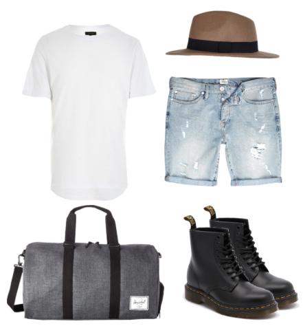T-shirt & Shorts - River Island Holdall - Hershel Boots - Dr. Martens