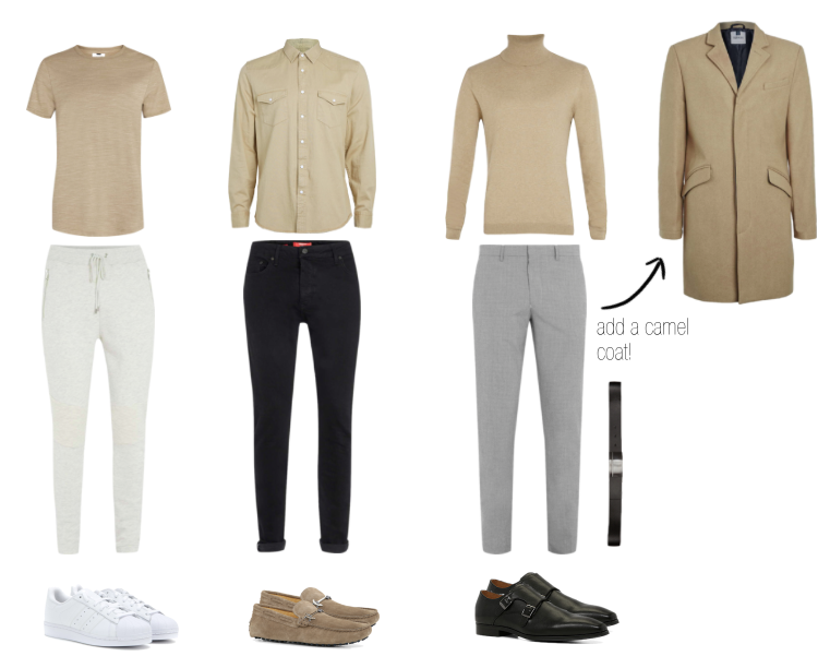 All Shirts and Pants - Topman                1st Outfit Shoes - Adidas Coat - Topman                                         2nd & 3rd Shoes - ALDO