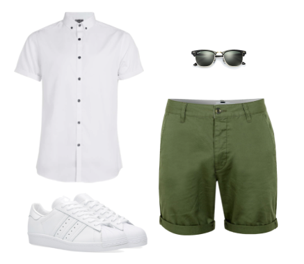 Shirt & Shorts - Topman Shoes - Adidas Sunglasses - Ray Ban