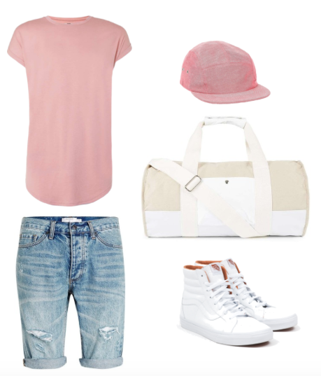 Tee, Shorts & Holdall Bag - Topman Hat - River Island Shoes - Vans