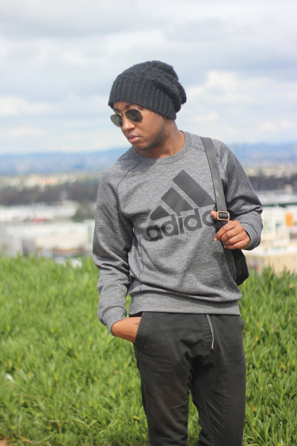 Shot by   Mia McNeil    Sweatshirt - Adidas  Joggers - Cotton On