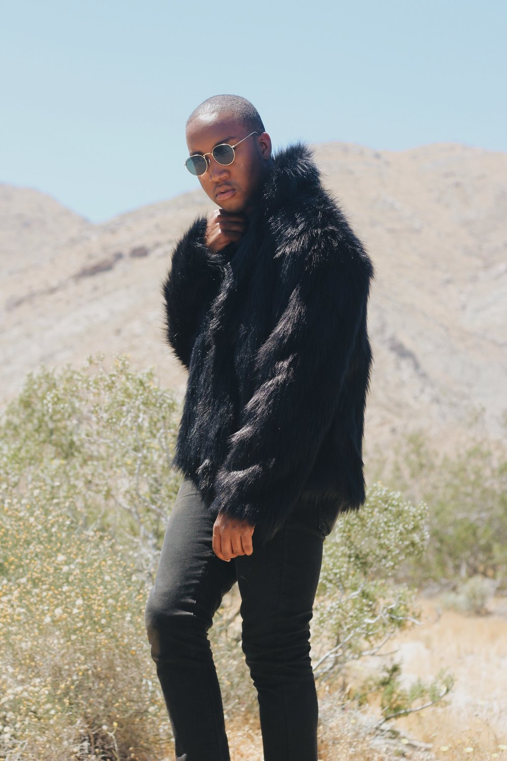 Shot by   Mia McNeil    Fur Jacket & Sunglasses - Ebay'd