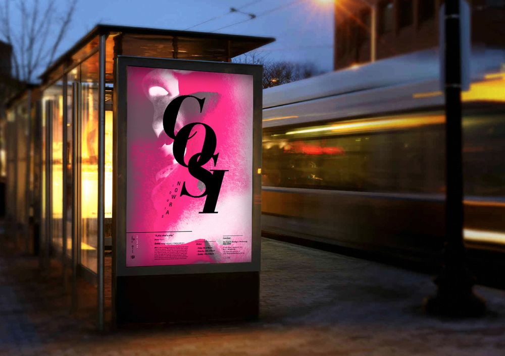 Advertisement bus stop