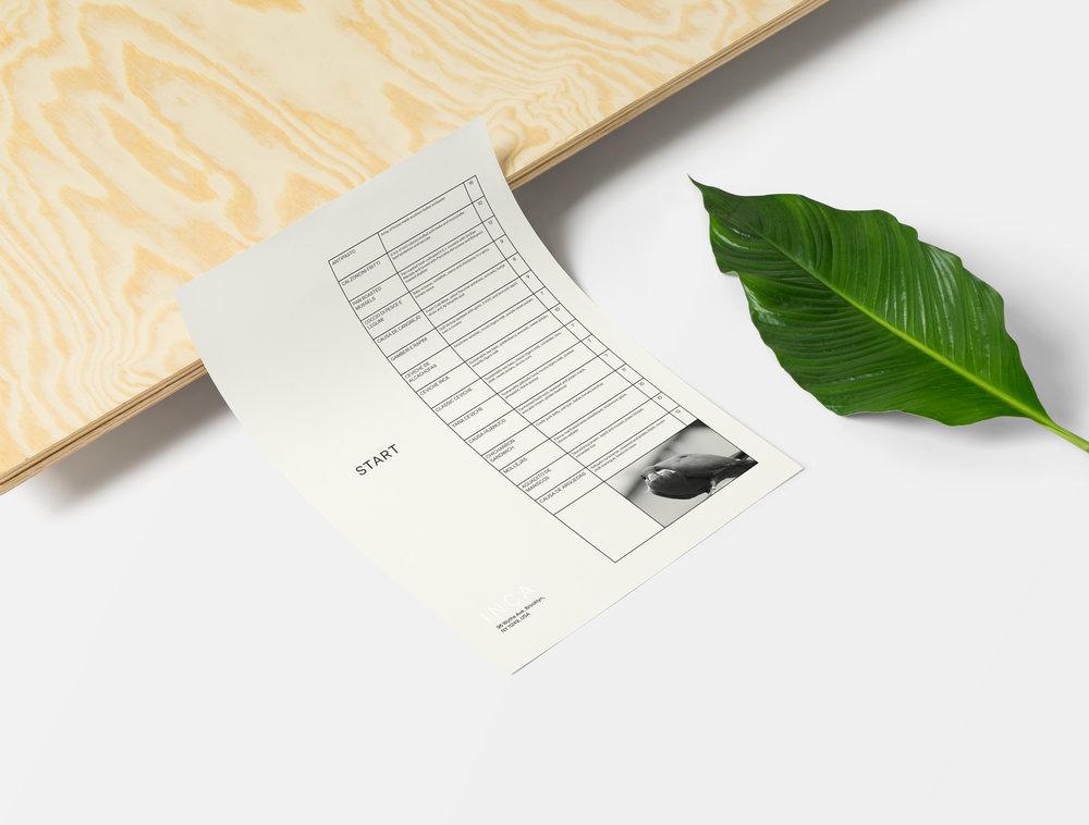 INCA - menu design