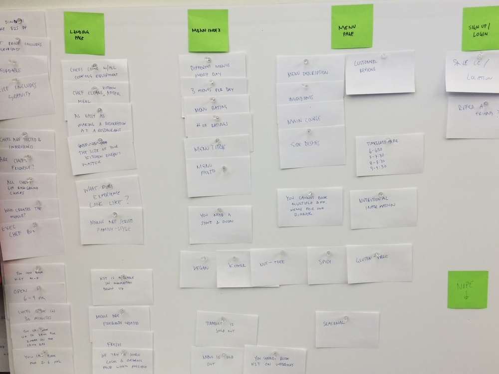 A card sort helped to re-evaluate how we want to educate potential customers throughout the flow