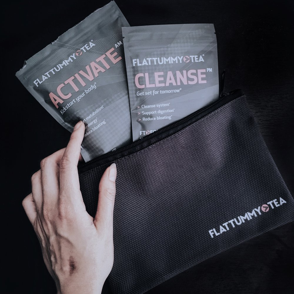 How it arrived: Activate and Cleanse teas in a little satchel bag