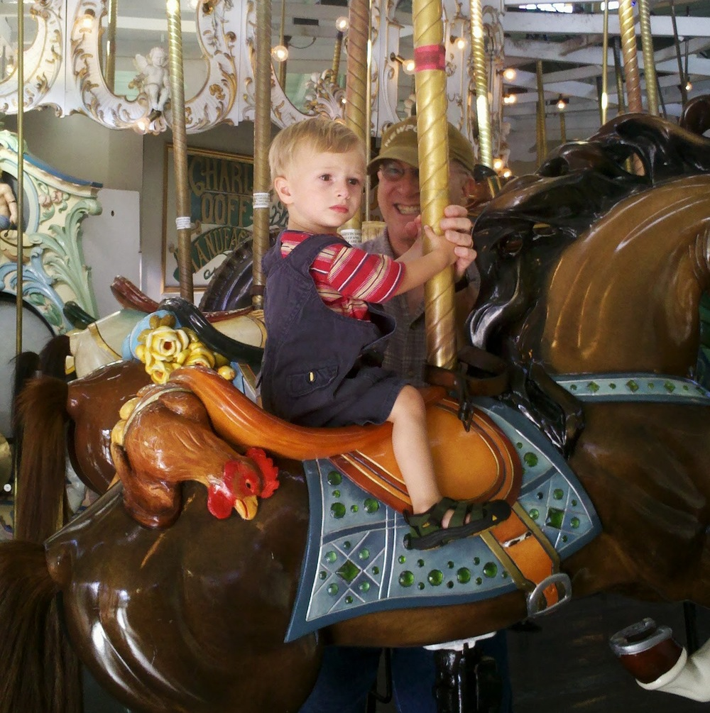 Not so sure about riding the carousel.