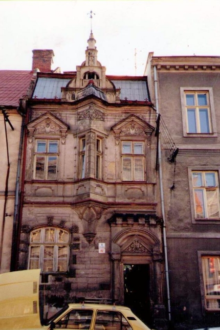 An ornate row house in Brno