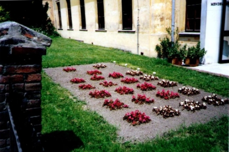 Outside the Mendel Museum, Brno, Summer 1990