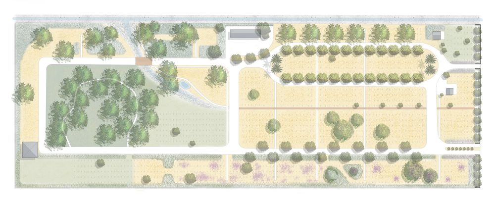 Conceptual plan for Perris Valley Cemetery
