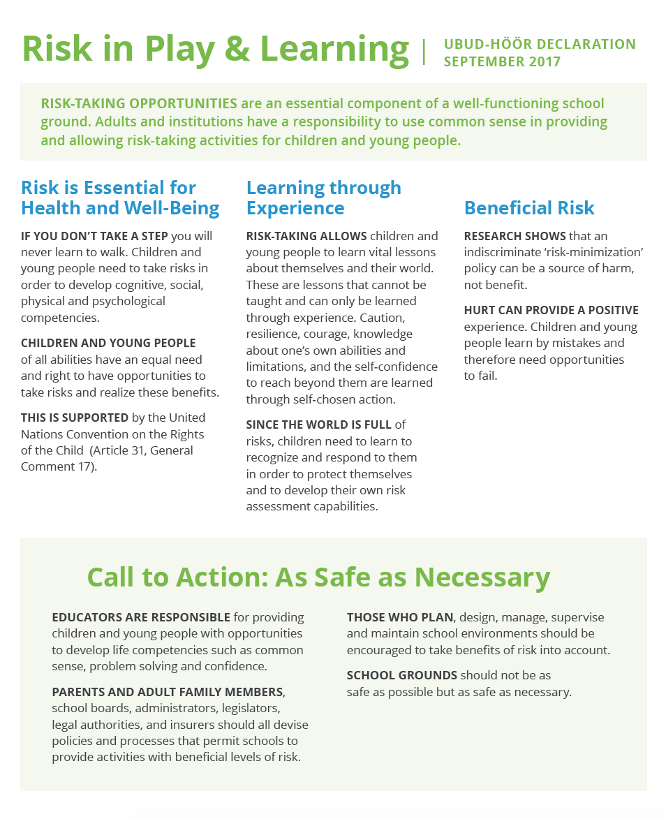 Risk in Play & Learning Risk Declaration with International School Grounds Alliance 2017