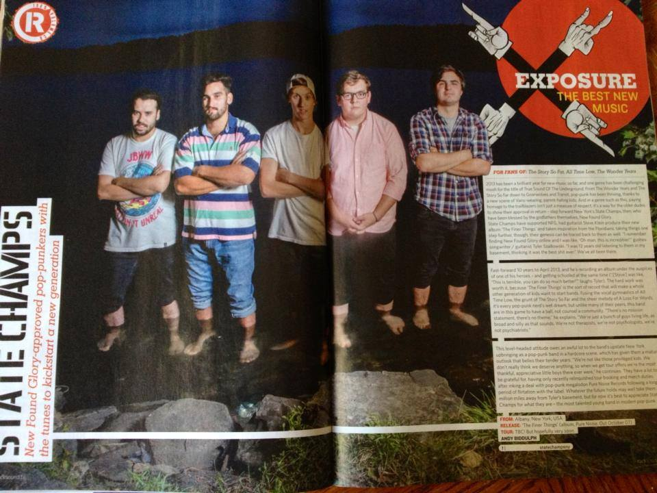 State Champs. Rock Sound Magazine Issue #179