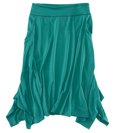 Shorebreak Skirt I vote for this for before or after the sporting activities. Can be paired with red sneakers and a white ribbed tank or deep v neck t shirt. In the fall, wear with knee high boots. Buy it