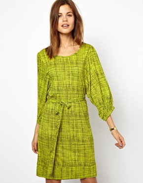 Blouson sleeve jersey dress. Courtesy of French Connection exclusive to ASOS.