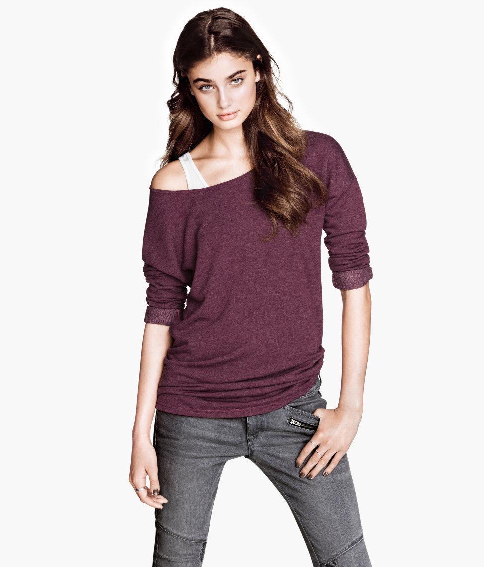 Straight cut sweatshirt. H&M