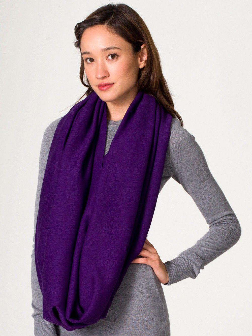 Circle scarf. American Apparel.