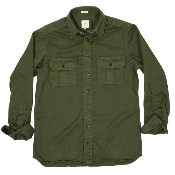 Dusty olive highlands shirt. $125. Taylor Stitch.