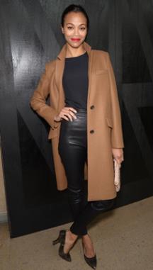 Zoe Saldana. Miu Miu show during Paris Fashion Week. Hollywood Crush.MTV.com.