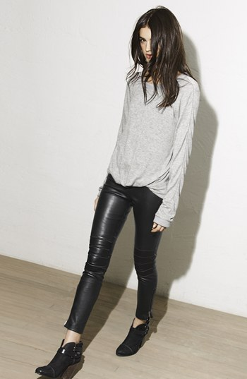 Elizabeth and James Addison lambskin leather moto pants. $277 down from $695. Nordstrom.