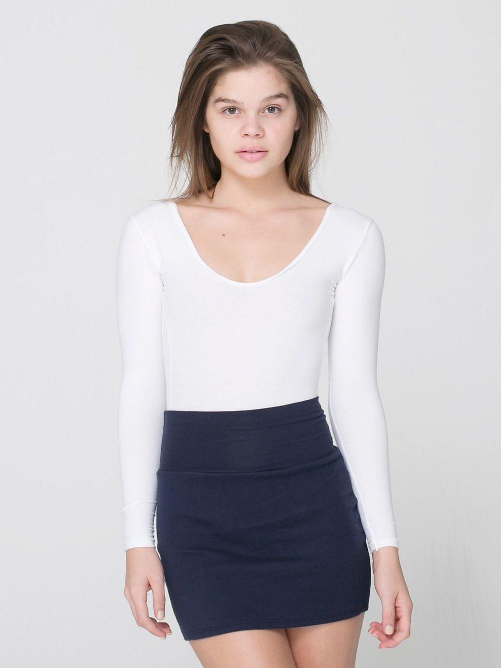 Interlock mini skirt. multiple colors. $32. American Apparel.