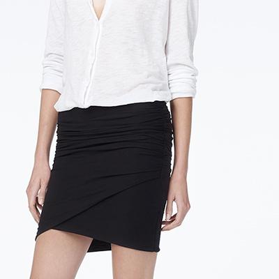 James Perse wrap mini skirt. $145. James Perse.