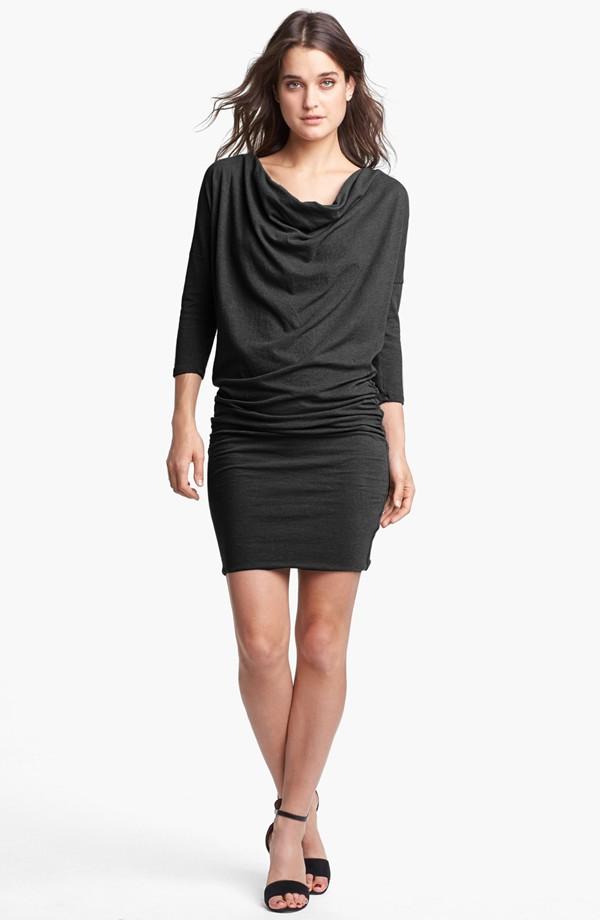James Perse Cowl neck dolman sleeve dress. $225. Nordstrom.