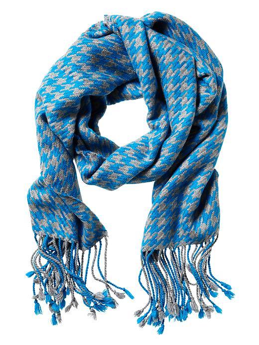Houndstooth fringe scarf. $59.50. Banana Republic.