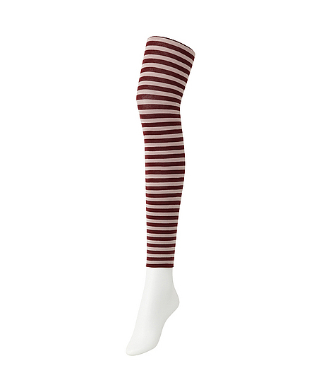 Striped leggings. Available in blk/wht, grey/blue & blk/grey. $9.90. Uniqlo.
