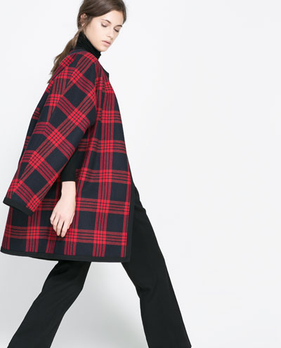 Checked studio cape. $269. Zara.