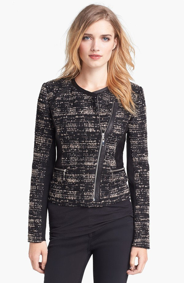 Rebecca Taylor Bouclé & leather jacket. Nordstrom. Was $595 Now $356.98