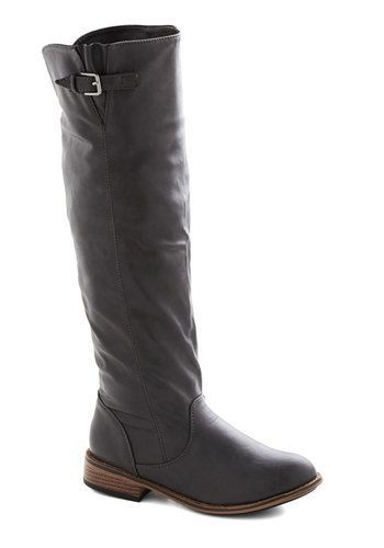 Setting up shop grey knee high boots. Modcloth. Was: $49.99. Now: $14.99