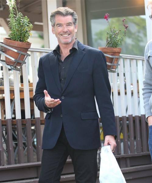 "Pierce Brosnan, generous actor who sent me an autographed photo when I was 7 and also a ""foxy man over fifty""."