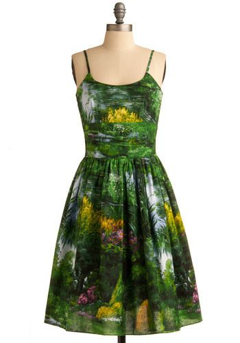 Graceful greenery dress. Modcloth. $129.99.