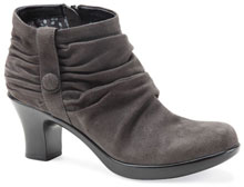 Buffy grey kid suede. Available in multiple colors. Dansko Outlet. Retail: $185.Now: $85