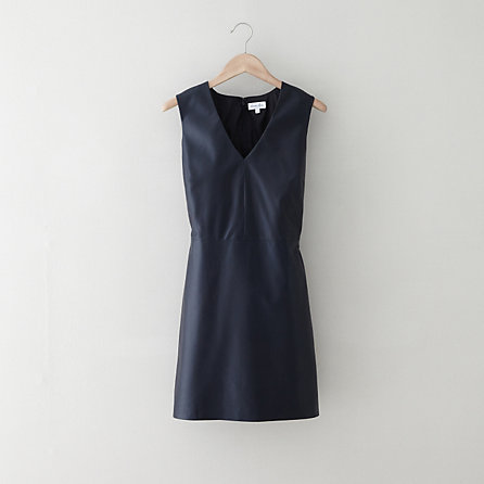 Thia Leather dress. Navy. Steven Alan. Was: $745. Now: $364.