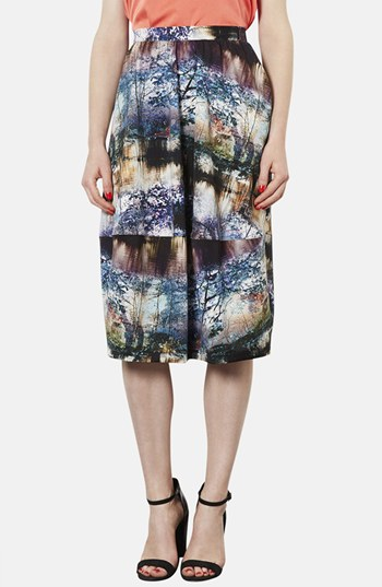 Topshop Photorealistic print midi skirt. Nordstrom. $96.
