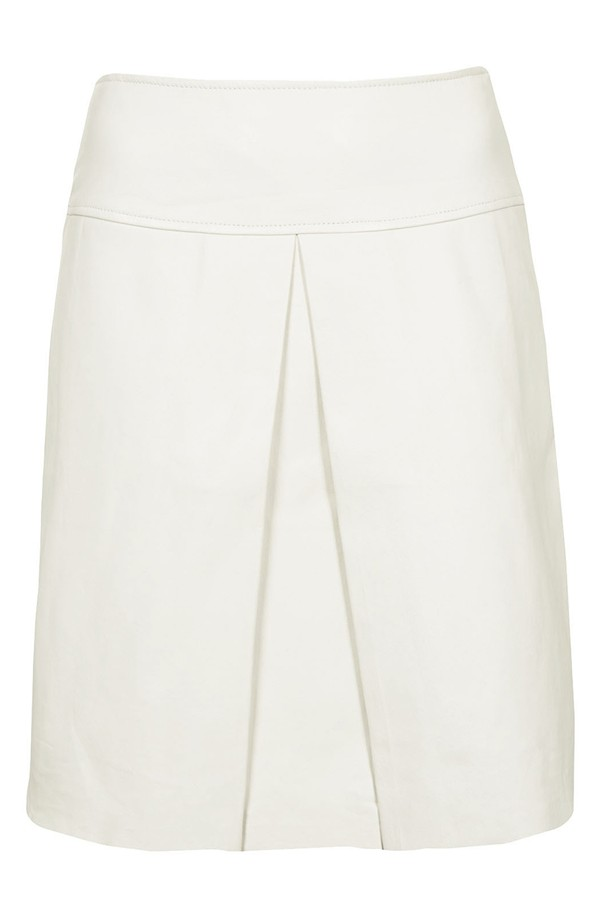 Topshop 'The Collection starring Kate Bosworth' Leather skirt. Nordstrom. $180.
