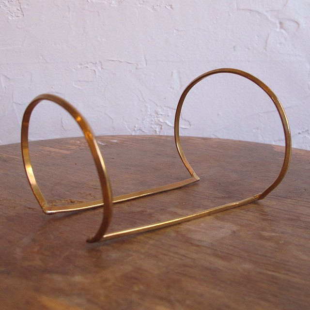 Bronze Arm cuff by Aoko Su. Velouria. $200.